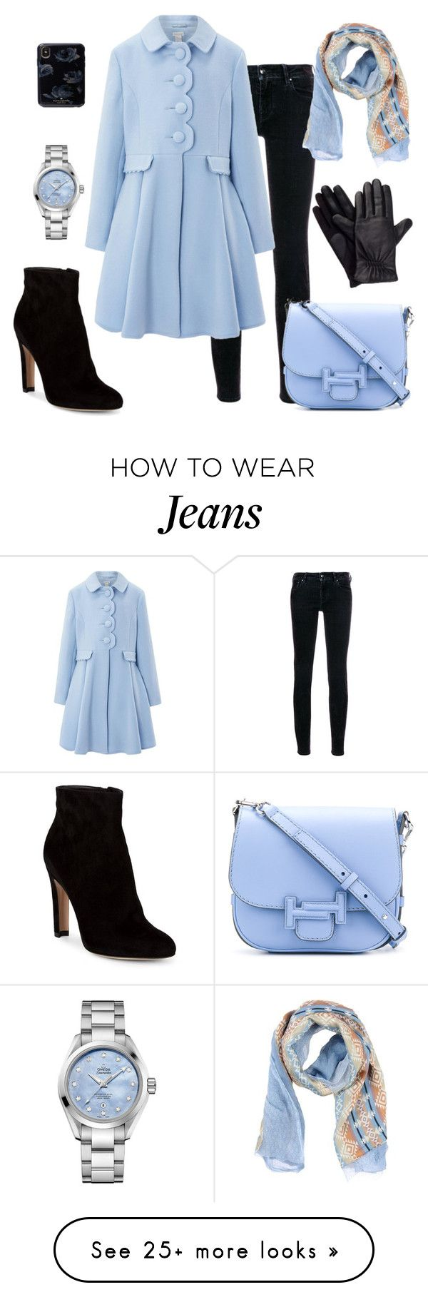 """""""Untitled #158"""" by asner-bond on Polyvore featuring Jacob Cohёn, Monsoon, Gianvito Rossi, Daniele Alessandrini, Tod's, Isotoner and OMEGA"""