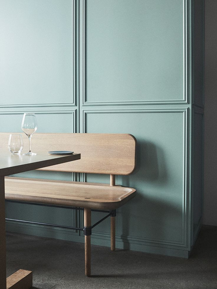 gorgeous moldings and colour ... this blue/grey/green is to die for ♡