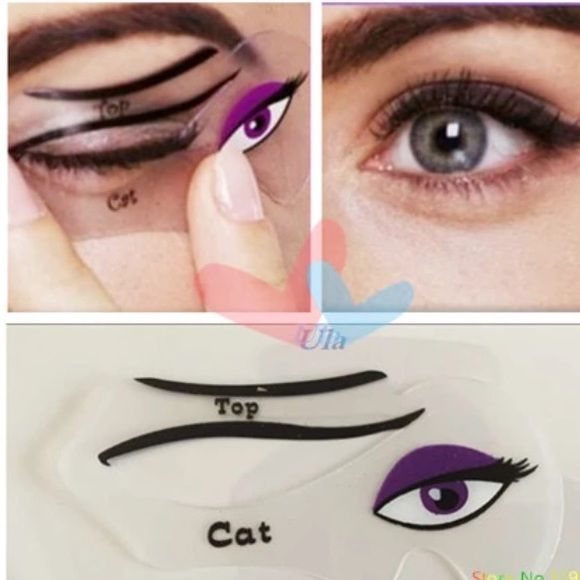 Cat Eye Stencils Cat Eyeliner liner Template Tools 1pack Eye Stencil of Daily Makeup , Cat Eye Stencils, Cat  Eyeliner Stencils  eye liner Template Tools Makeup