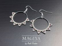 Silver Sun Hoop ✿ ビーズピアス by MAGIYA