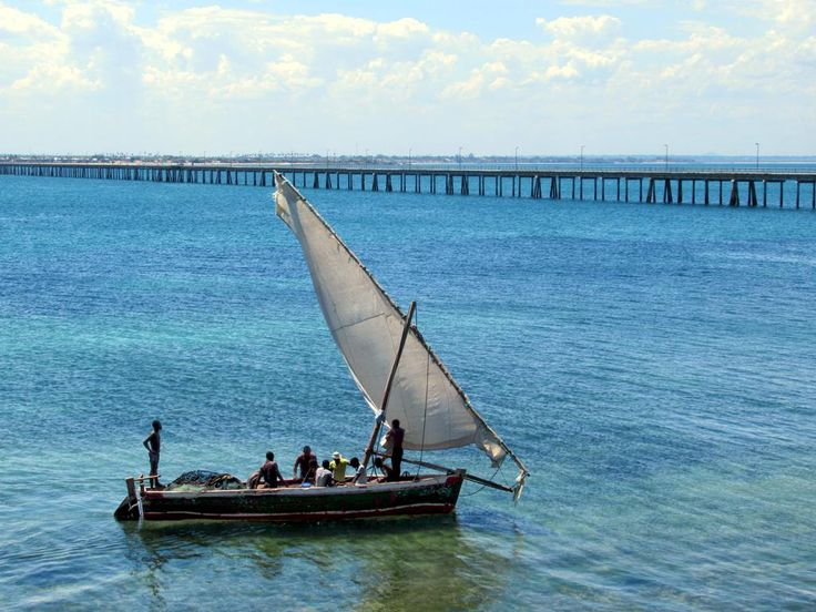 A 3.4-kilometer bridge built in the 1960s connects Mozambique Island to Lumbo on the African mainland.
