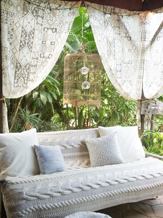 """BBC Boracay says:"""" What a wonderfull romantic sofa. Great spot for a cup of coffee and a good book.."""""""