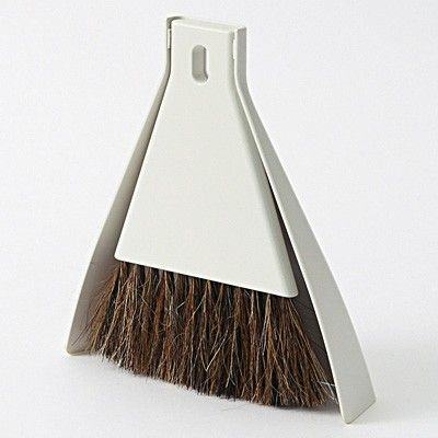 one of my fav housekeeping tools purchased last year. perfect for small clean up jobs. i keep ours in our master bath. Muji desk broom set with dustpan $7.75