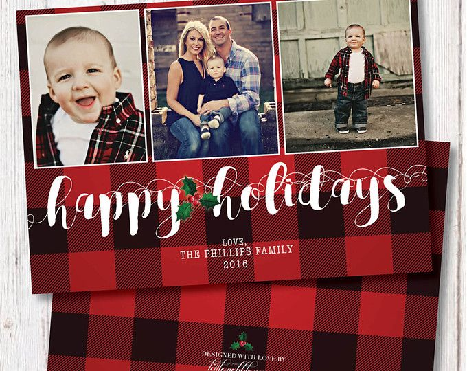 Plaid Christmas Cards Plaid Holiday Cards Plaid