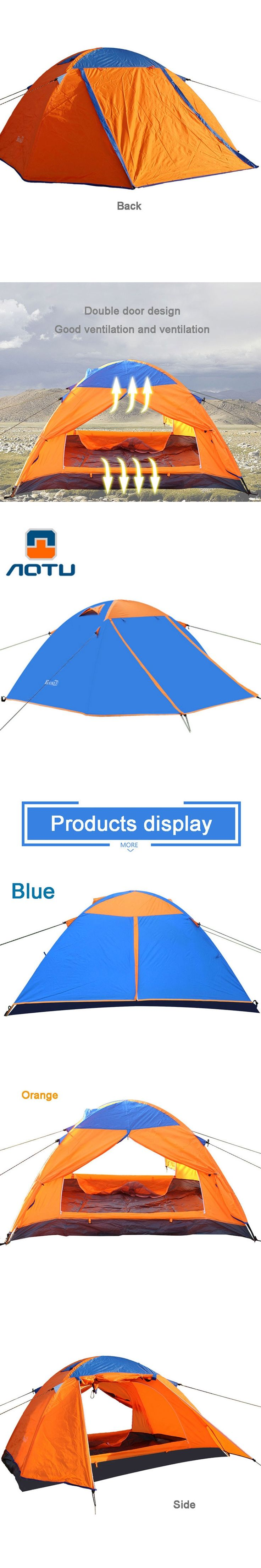 2 person double door aluminum rod tent Double Layer Outdoor Camping Hike Travel Play Tent Aluminum Pole