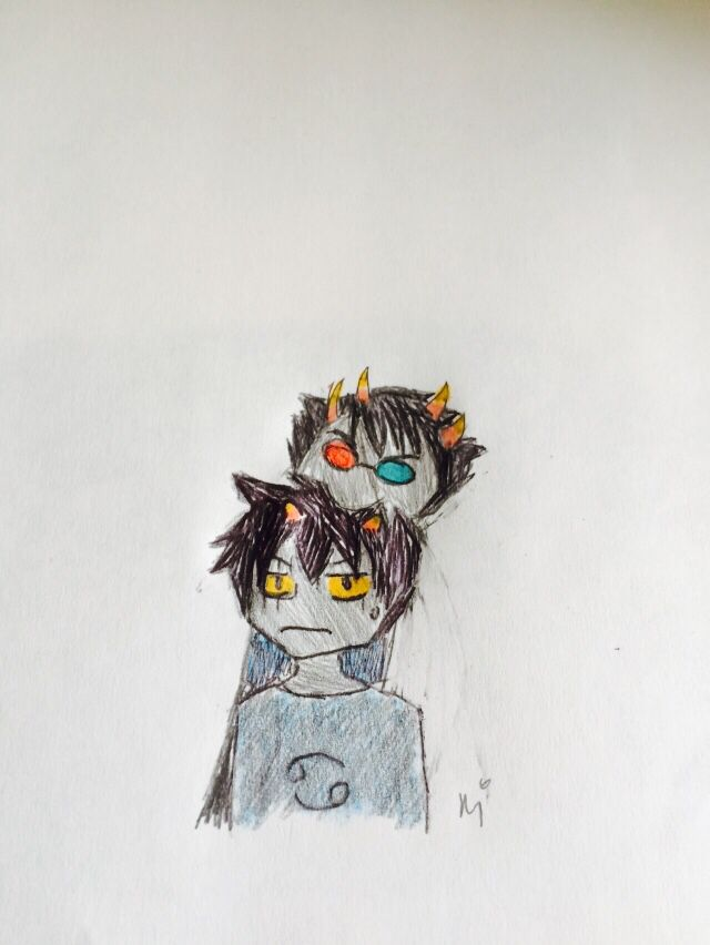 Sollux and Karkat- Homestuck fan art by me