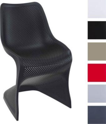 Beautiful Design Kunststoff Stuhl BLOOM stabiler Gartenstuhl K chenstuhl Freischwinger mit toller Wabenoptik