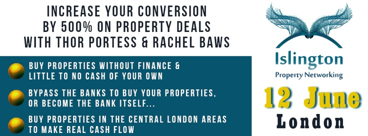 Increase your conversion by 500% on property deals by Thor Portess & Rachel Baws  http://www.eventbrite.com/event/6654552947/June/1858227270