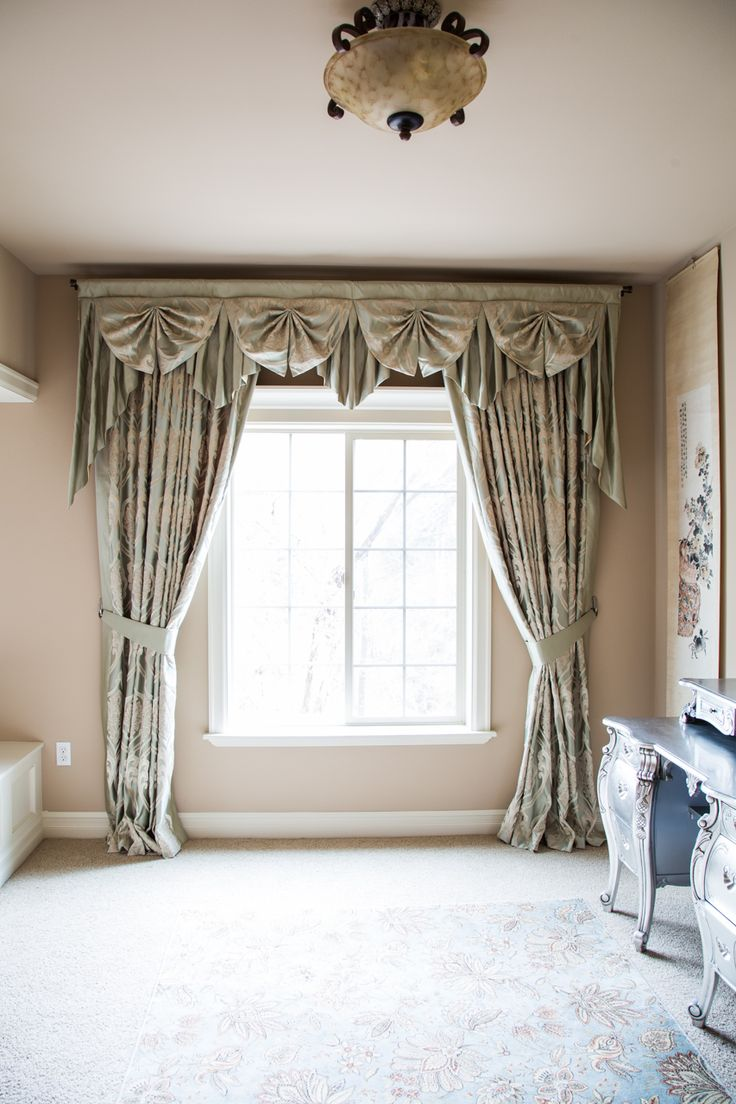 258 best images about window treatments swag valance for Salon a valence