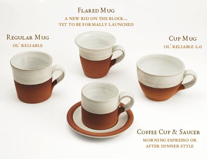 Classic mugs by Stephen Pearce Pottery.
