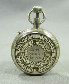 The Beyer Cipher Pocket Watch ~ a cryptologic device from the 1930s. Donated by Mr. Michael Graham of CA. #cryptology