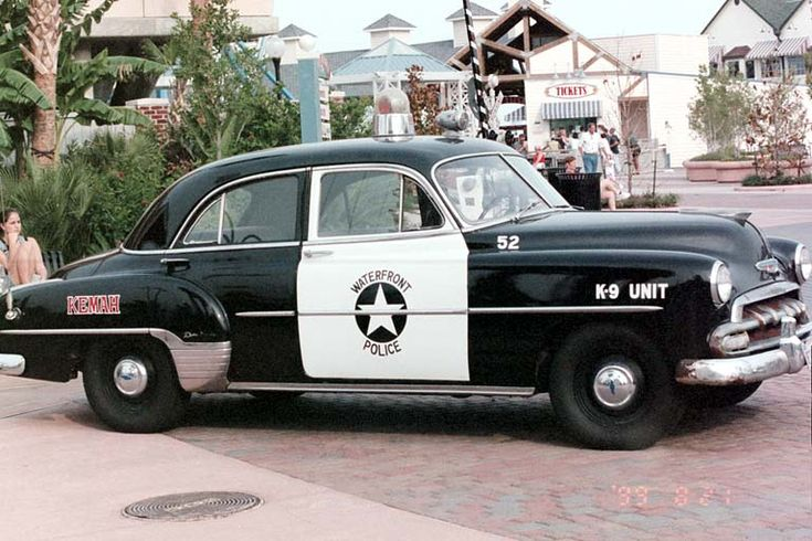 old fashioned cars | Todays Action Photo is a picture of an old-fashioned police car on ...
