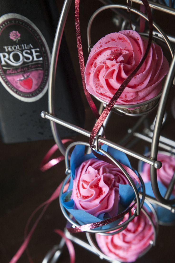 Tequila Rose Strawberry Cream Cupcakes. @alexisday14 !                                                                                                                                                                                 More