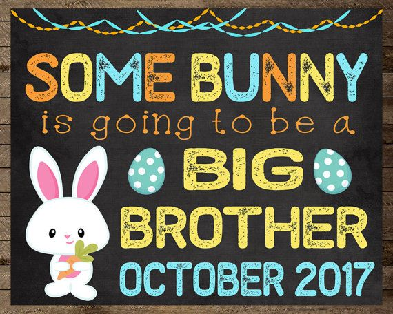 Easter pregnancy announcement big brother by InJOYPrints on Etsy