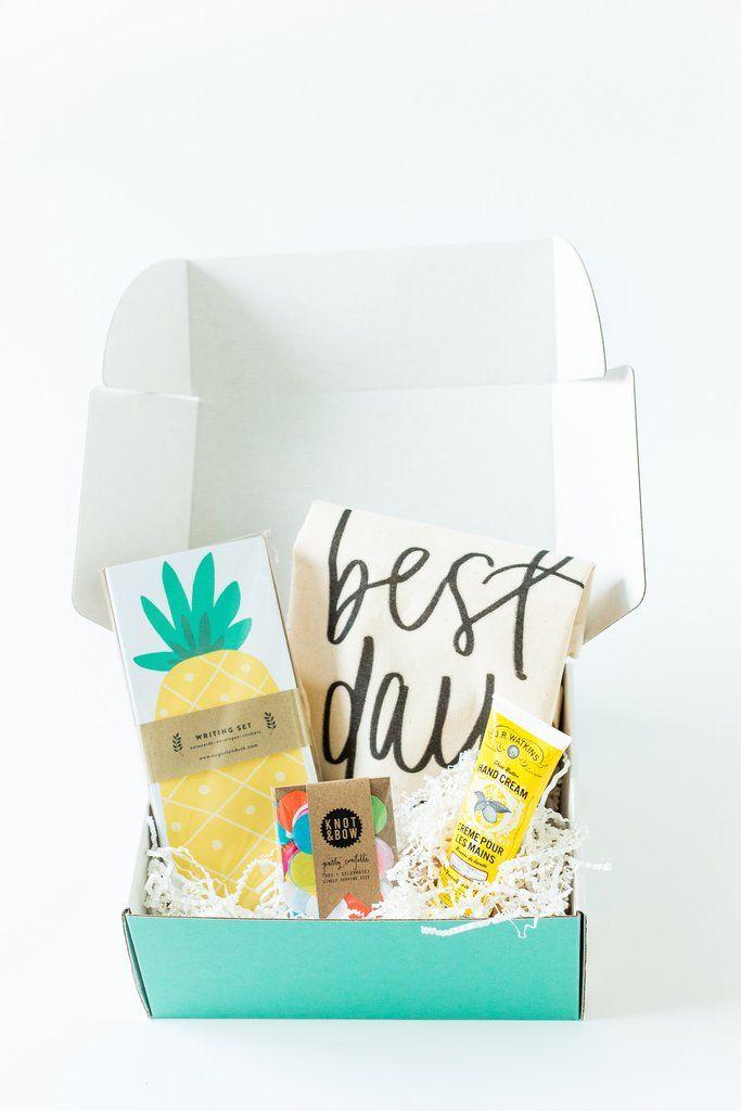 The Birthday Box, Easy Birthday Gift, Pineapple Birthday, Confetti, JR watkins, online birthday gift, order birthday gift online