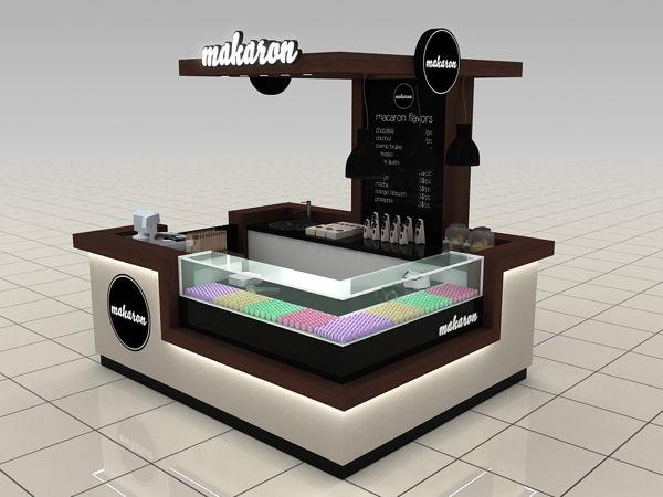 Makaron Shopping Mall Stand Design @ Toronto by Katalin Ercsényi, via Behance