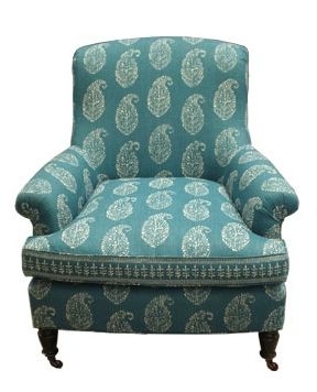 chair by Peter Dunham - Kashmir Paisley fabric in blue