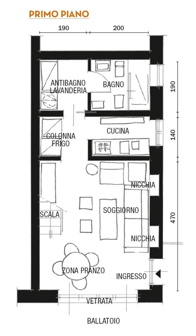 Mini Loft Ristrutturato Con Mansarda Planimetrie Dell