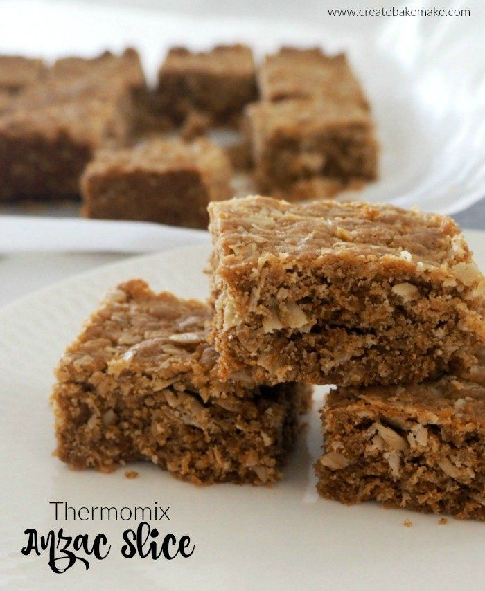 Thermomix Anzac Slice Recipe