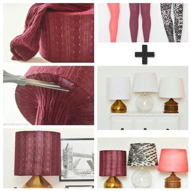 How to DIY Simple Legging Lampshade | www.FabArtDIY.com LIKE Us on Facebook ==> https://www.facebook.com/FabArtDIY