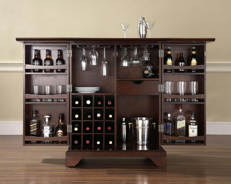 Build Your Own Home Bar Crosley Furniture LaFayette Expandable Cabinet Pedantique