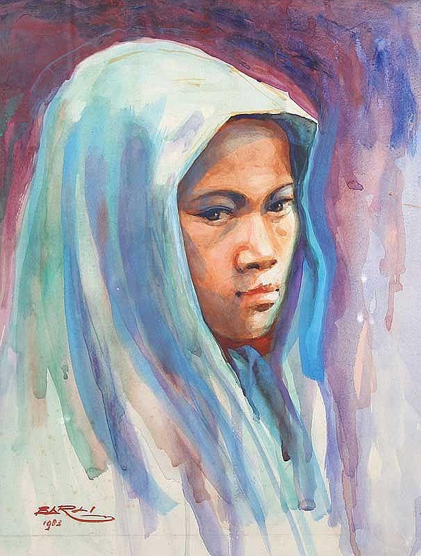 GADIS, artist Barli Sasmitawinata (Bandung, Java 1921~2007)