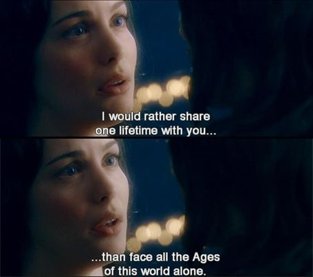 7. Lord of the Rings - 21 Greatest Romantic Movie Quotes ... → Beauty
