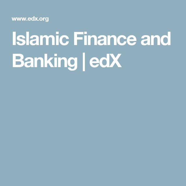 Islamic Finance and Banking | edX
