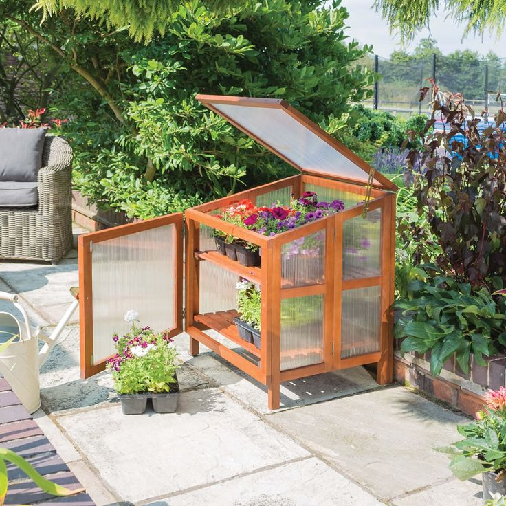 Outdoor Furniture · Rowlinson Single Hardwood Coldframe