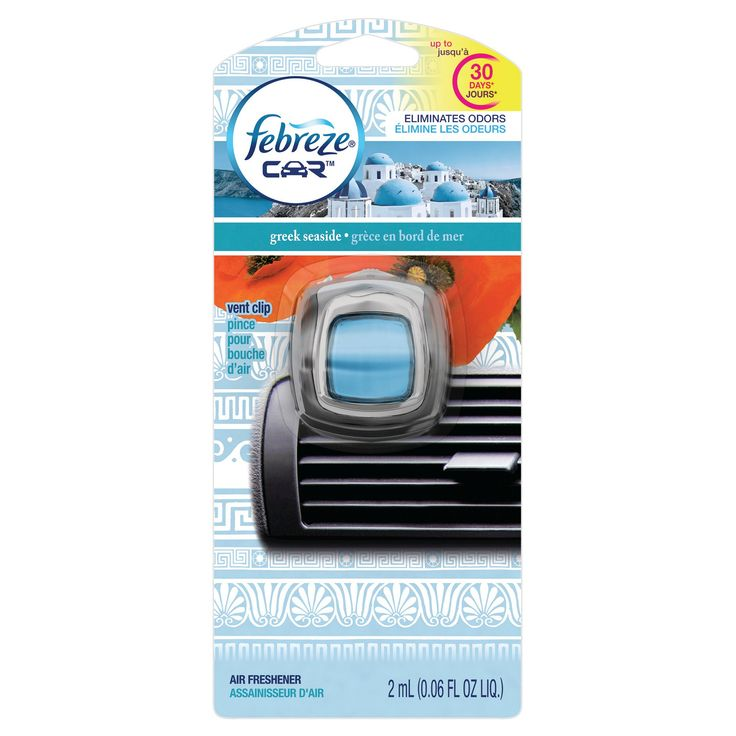 Febreze Car Greek Seaside Air Freshener - 0.06 fl oz,