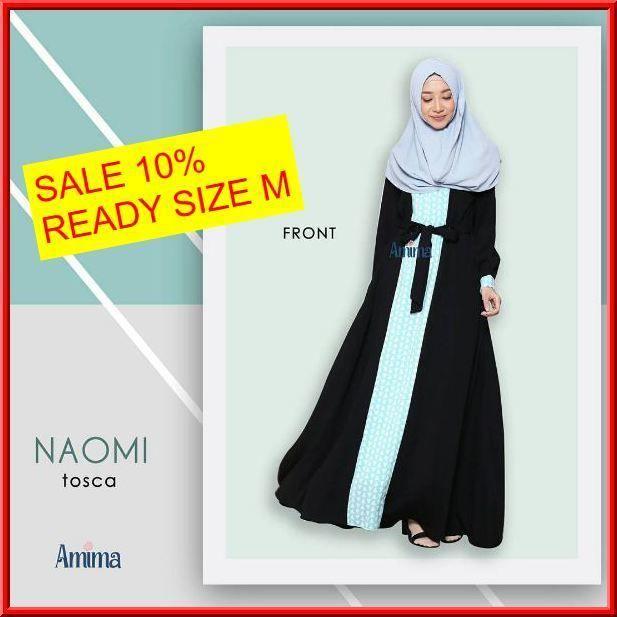 Gamis Amima Naomi Dress Tosca - baju muslim wanita baju muslimah Untukmu yg cantik syari dan trendy . . Size:  S ---> 94 | 137 M ---> 100 |140 L ---> 106 | 140 . . Material bahan : -CREPE POLOS  WOLVIS PATTERN nyaman digunakan seharian material ringan dan flowy cocok untuk travelling karena cuci-cepat kering dan ga perlu setrika -Model rok dengan aksen motif di bag tengah depan -Model kerah bulat dengan Bukaan zipper depan -Kantong pada kanan dan kiri untuk menyimpan dompet / HP -Tali…