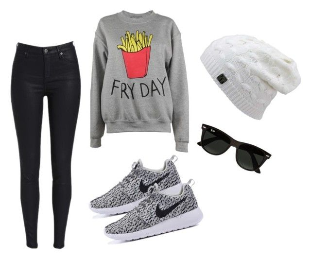 """Outfit Winter"" by turbopeka on Polyvore featuring moda, Adolescent Clothing y Ray-Ban"