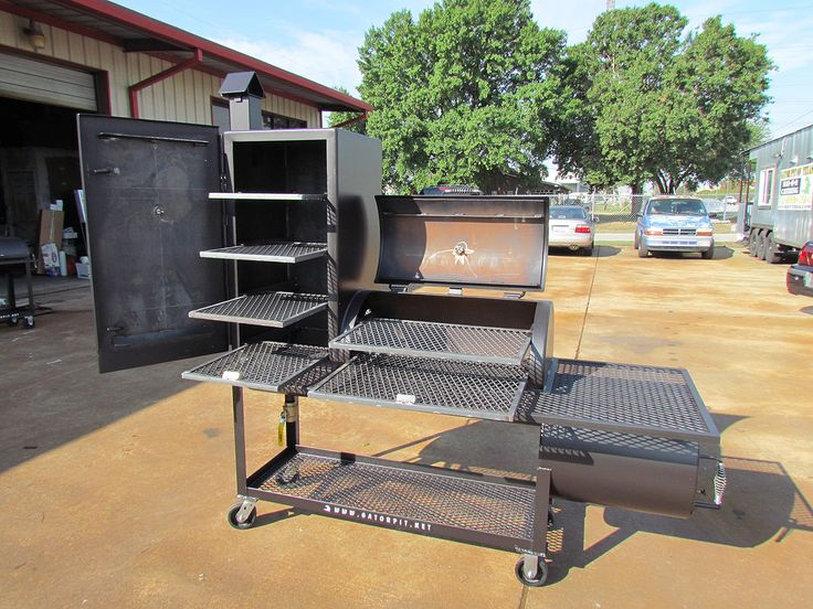 Custom BBQ Pit from Gator Pits of Texas (the best). I want one of these.