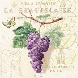 Serwetka papierowa - Purple grapes cream - 00001