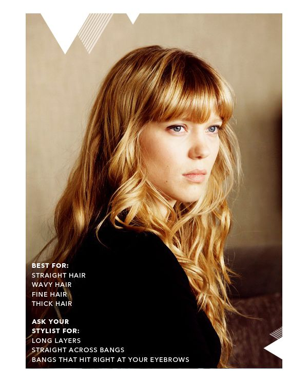 She Lets Her Hair Down: Inspiration :: Long Layers and Bangs