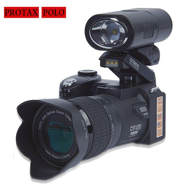 Blueskysea D7200 33MP 1080 P Digital Kamera Camcorder DSLR Camera Tubuh + LED Spotlight