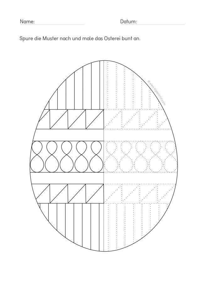 de kindergarten kigaportal ostern osterei arbeitsblatt wahrnehmung ostereier nachspuren 4. Black Bedroom Furniture Sets. Home Design Ideas