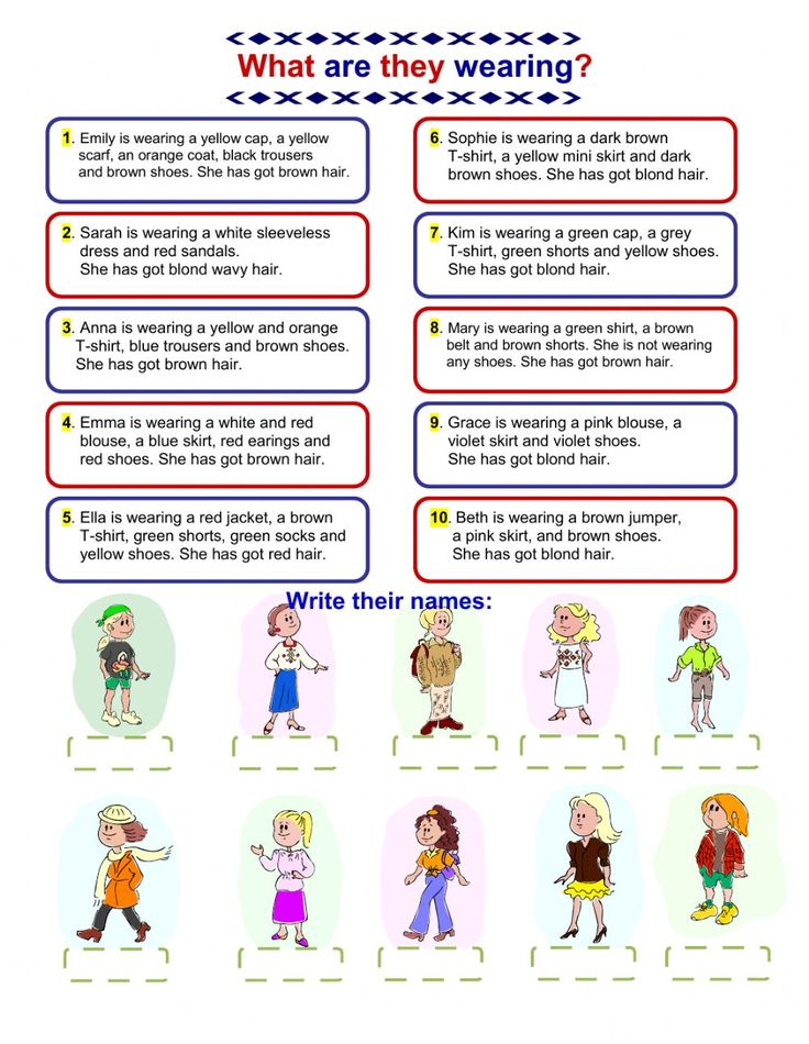 The clothes interactive and downloadable worksheet. Check your answers online or send them to your teacher.