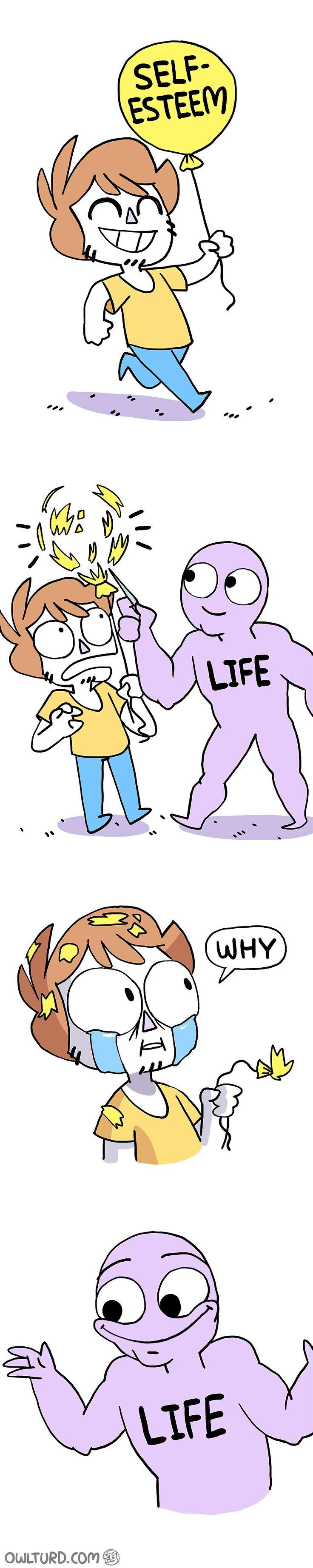 Life wants to F%ck us all, just for kicks! : |  via OwlTurd.com