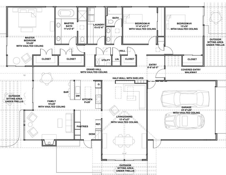 15 best mid century floor plans images on pinterest for Eichler house plans