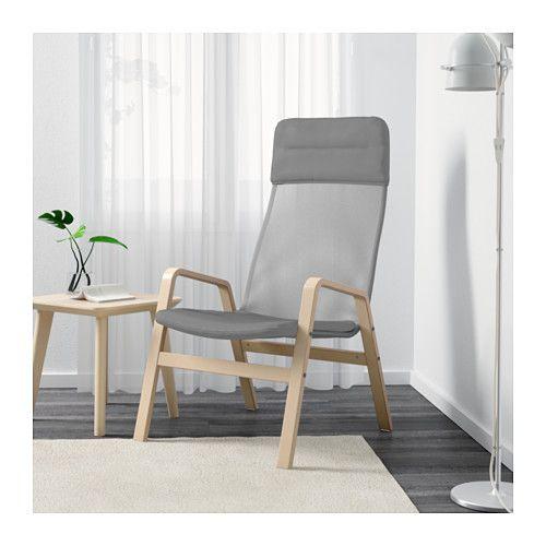 NOLBYN Poltrona con schienale alto - impiallacciatura di betulla/grigio - IKEA