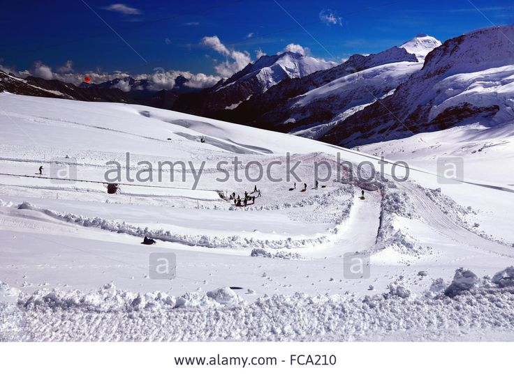 #Winter #Outdoor Entertainments in #Swiss #Alps (Jungfraujoch/Top of Europe) - FCA210 from Alamy's library of millions of high resolution #stockphotos, illustrations and vectors.