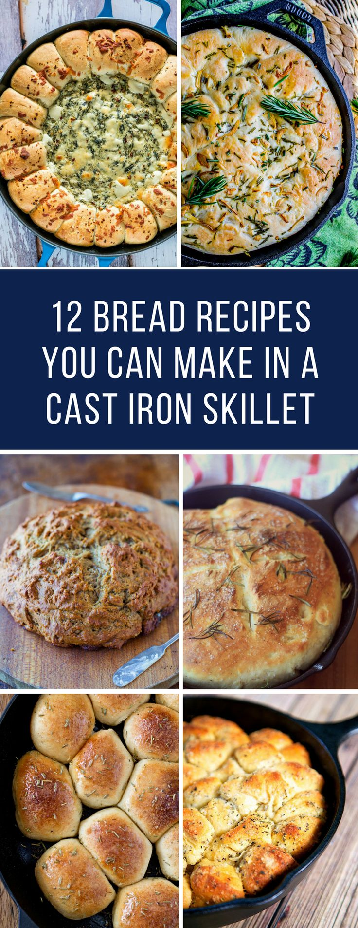 Cast Iron Skillet Bread Recipes - Oh my if you have never made bread in your cast iron pan before you need to check out these recipes -they smell and taste amazing! #castiron #skillet #bread #recipes