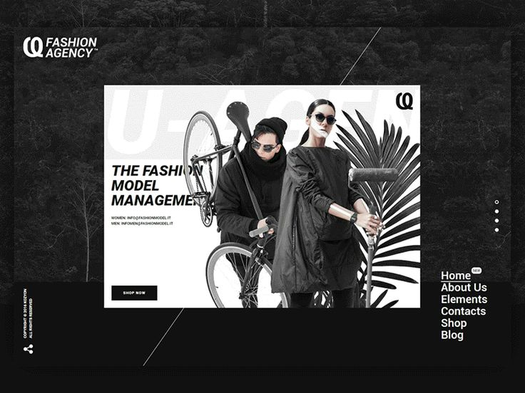 U-AGENCY  FASHION AGENCY by Kozyon  #Design Popular #Dribbble #shots