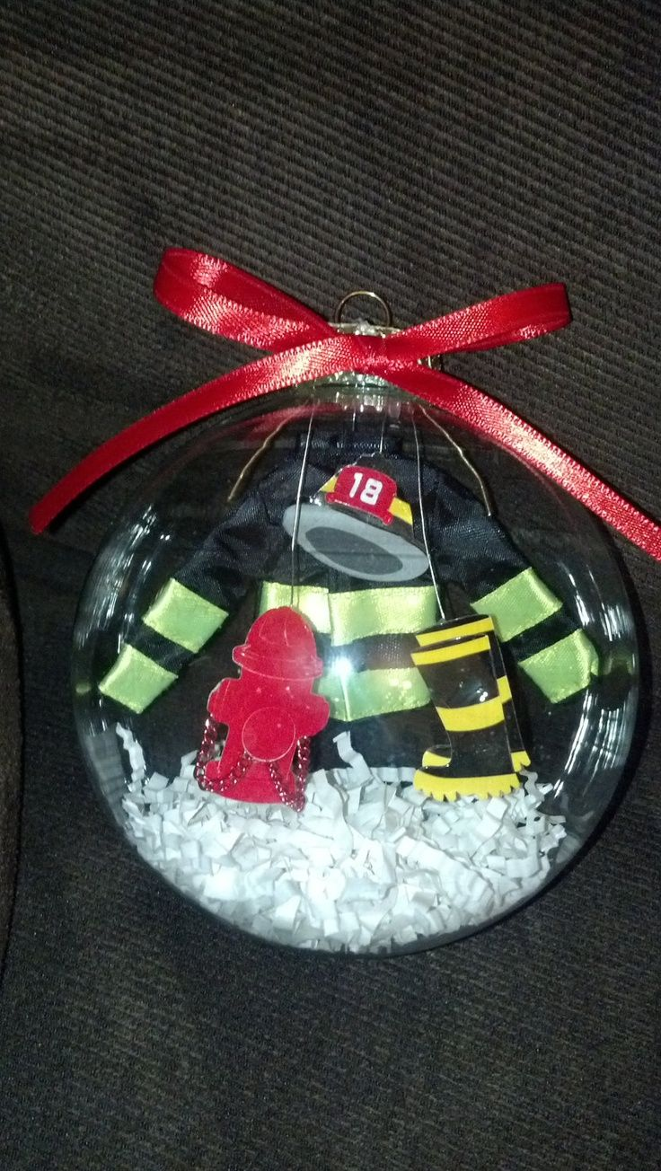 Personalized firefighter ornaments - 4in Blown Glass Fireman Ornament By Noturordinaryornamnt On Etsy 15 00