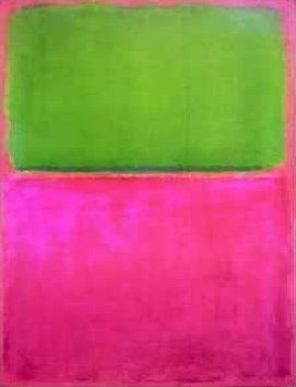 Mark Rothko, 1903-1975.  Sometimes described as an 'abstract expressionist', he is one of the most famous postwar American artists.  Wiki: http://en.wikipedia.org/wiki/Mark_Rothko