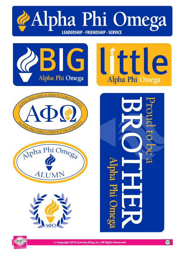 Alpha Phi Omega Family Stickers Alpha Phi Omega Decals Pinterest