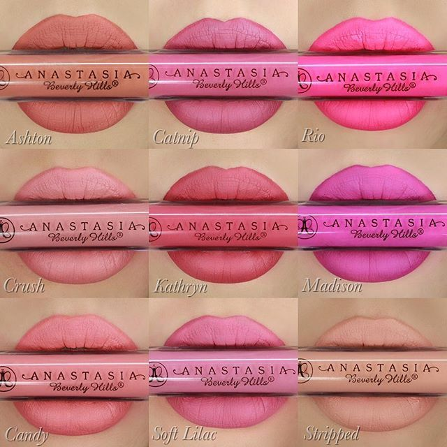 "@anastasiabeverlyhills spring liquid lipsticks  I'll post a close up of ""stripped"" soon ❤️ or watch my last video"