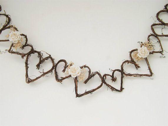 Rusti Garland ramita Garland telón de fondo por treasuredflorals