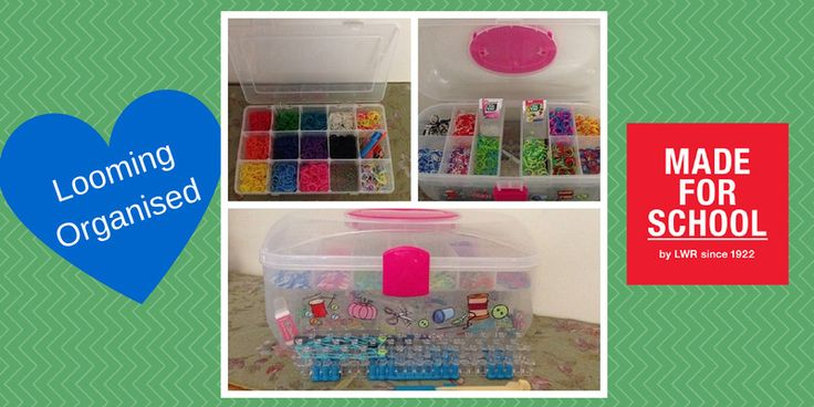 Looming Organised!  Have you gone mad with bands all over the house?  I have so here's what I did to get it sorted and stop going looming mad!  Natalie